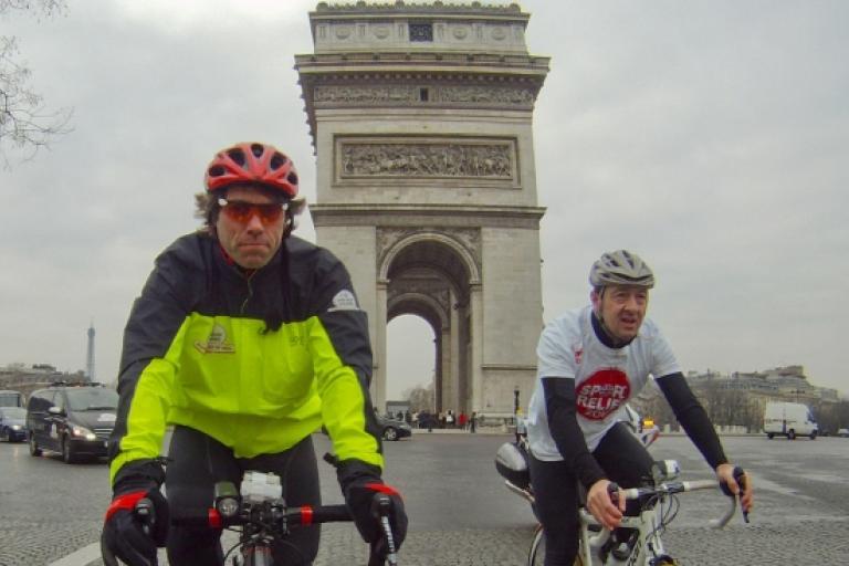John Bishop and Chris Boardman (picture credit - Sport Relief)