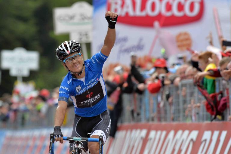 Julian Arredondo wins 2014 Giro Stage 18 - picture credit LaPresse