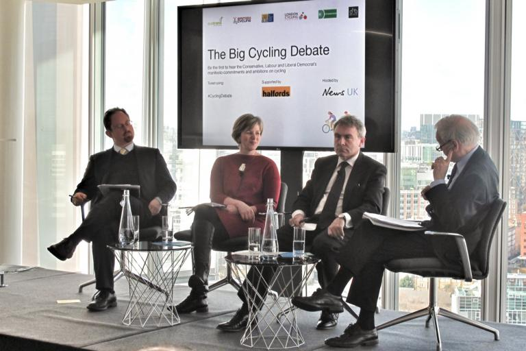Julian Huppert, Lilian Greenwood and Robert Goodwill debate cycling (copyright Simon MacMichael)
