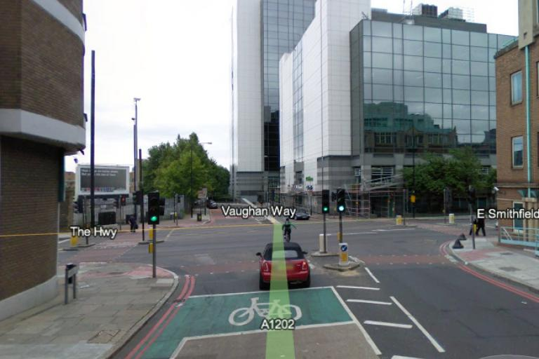 Junction of Dock Street and The Highway (Google Maps)