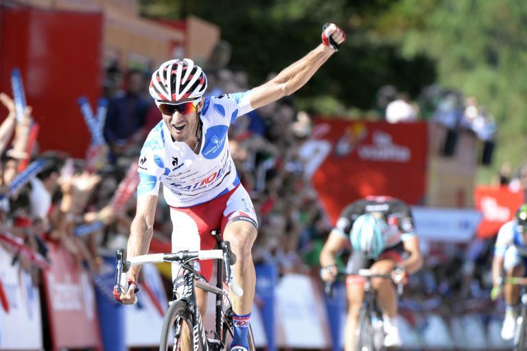 Katusha's Daniel Moreno wins 2013 Vuelta Stage 4 (copyright Unipublic:Graham Watson)