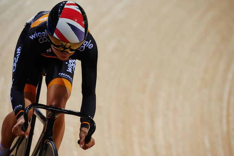 Laura Trott in action in Revolution Series (picture credit Luke Webber:Revolution Series)