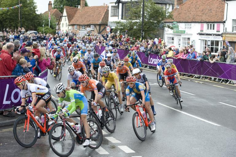 London 2012 Women's Road Race (copyright Britishcycling.org.uk)