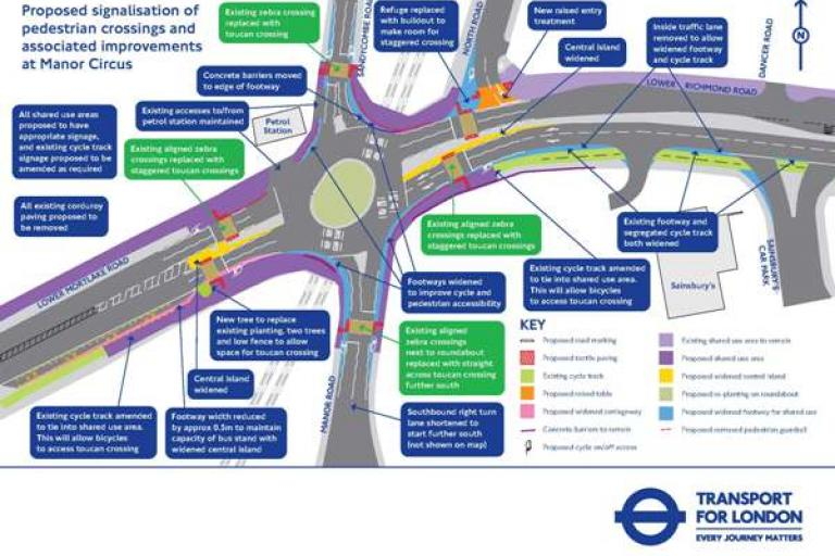 Manor Circus Junction Map