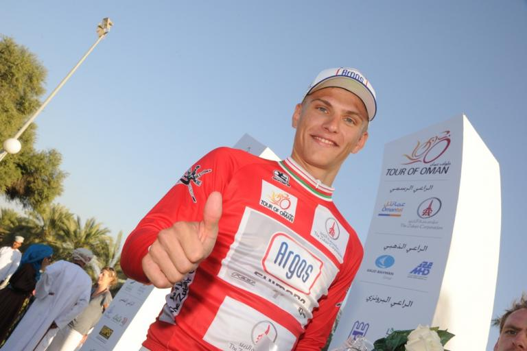 Marcel Kittel after winning Stage 1 of the 2013 Tour of Oman (picture courtesy Tour fo Oman)
