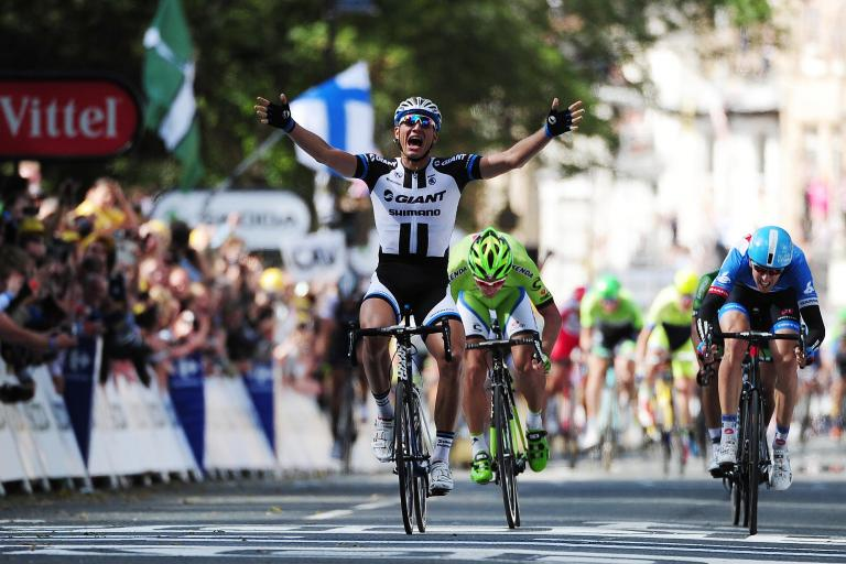 Marcel Kittel wins Stage 1 2014 Tour de France  (picture credit Welcome to Yorkshire)