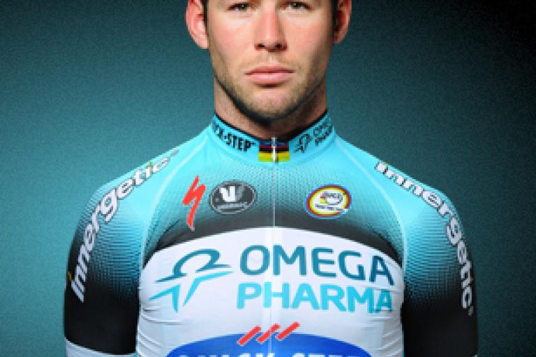 Mark Cavendish in Omega Pharma Quick Step kit