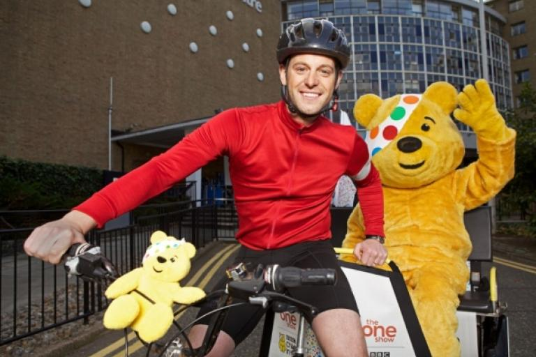 Matt Baker Rickshaw Challenge for BBC Children In Need