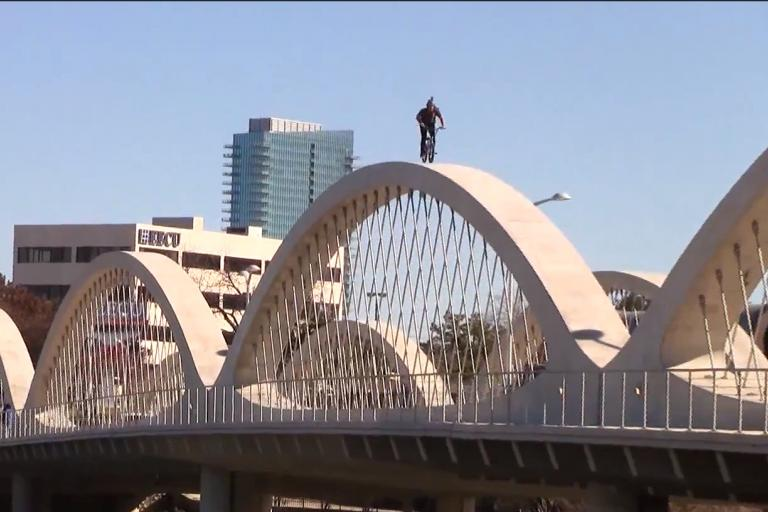 Matt Olson rides Fort Worth Seventh Street Bridge 02