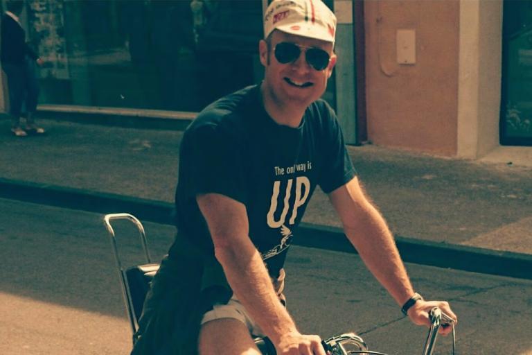 Matt Richardson on a training ride ahead of his ascent of Mont Ventoux (©Matt Richardson) copy