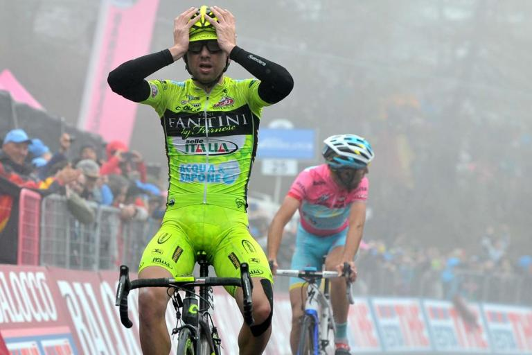 Mauro Santambrogio wins Giro 2013 stage 14
