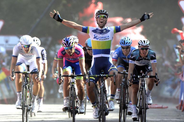 Michael Matthews wins Vuelta 2013 Stage 5 (copyright Unipublic:Graham Watson)
