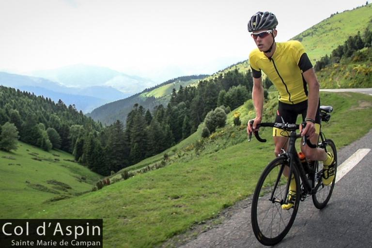 Mike Cotty on the Col d'Aspin (picture credit - The Col Collective)