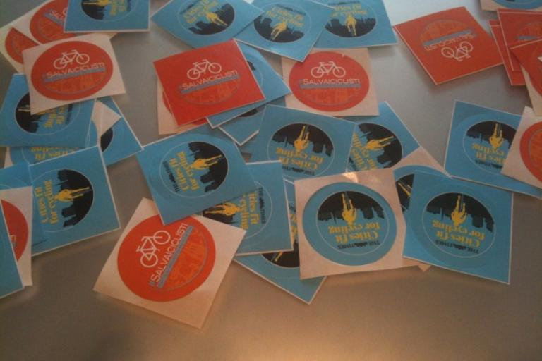 Milan San Remo Save a Cyclist sticker