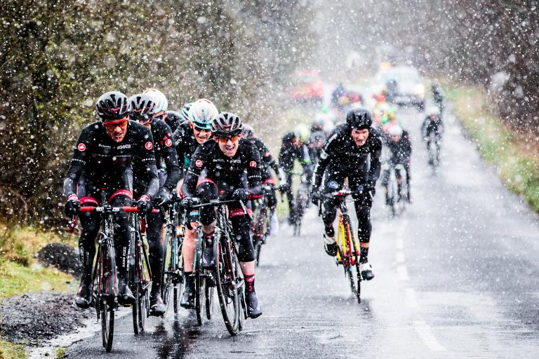 NFTO riders in the snow