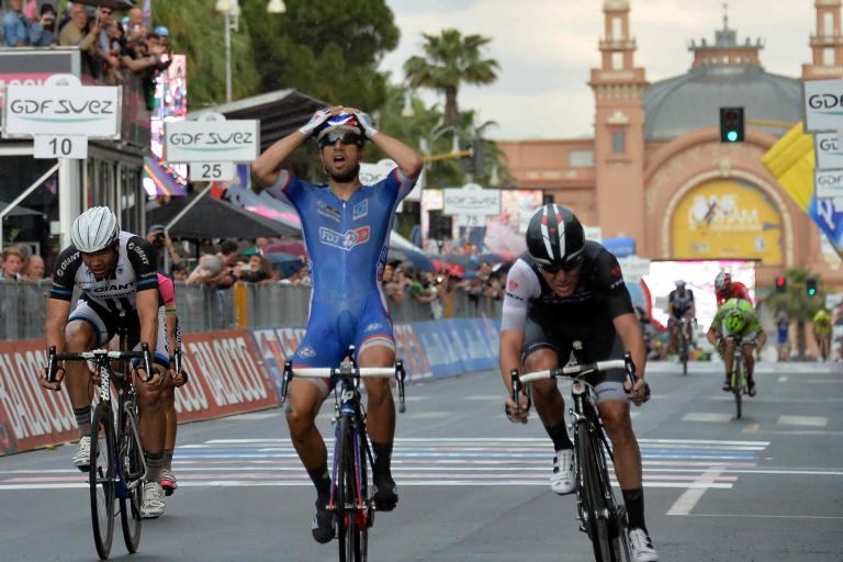 Nacer Bouhanni of FDJ wins Giro 2014 Stage 4 in Bari - picture credit LaPresse
