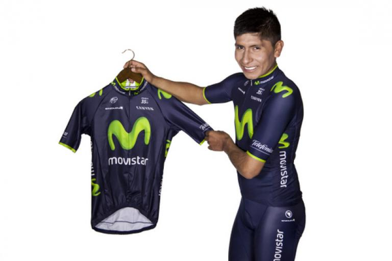 Nairo Quintana in Movistar kit