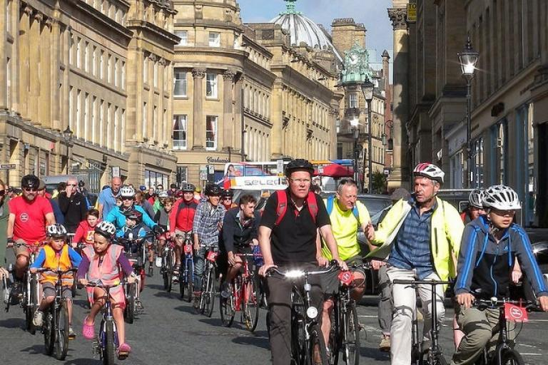 Newcastle Civic Cycle Ride (image courtesy of Newcycling Flickr stream)