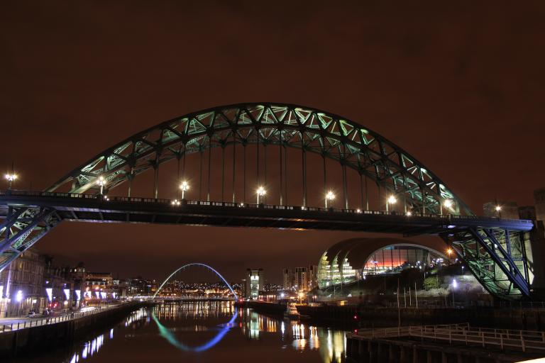 Newcastle at night (CC BY 2.0 licensed by 96tommy:Flickr)