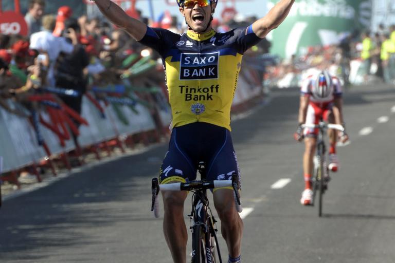 Nicolas Roche wins Vuelta 2013 Stage 2 (Copyright- Unipublic:Graham Watson)