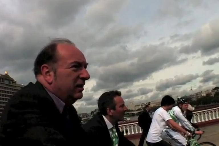 Norman Baker on Blackfriars Bridge courtesy Carlton Reid.jpg