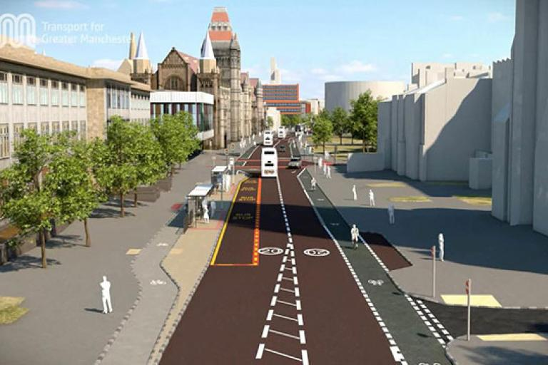 Oxford Road, Manchester artist's impression, November 2014