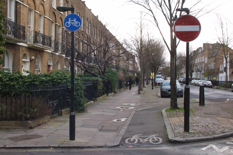 Part of route of proposed Quietway through Islington (copyright Simon MacMichael)