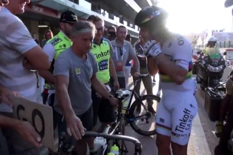 Peter Sagan makes Abu Dhabi pitstop YouTube still