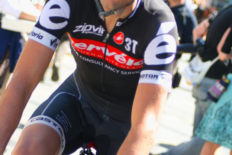 Philip Deignan riding for the Cervelo Test Team in 2010 (CC licensd by Richard Masoner : Cyclelicious)