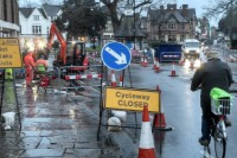 Plain Roundabout works courtesy Oxford County Council
