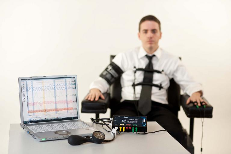 Polygraph Test - Limestone Technologies Inc (source David Bethune, Wikimedia Commons