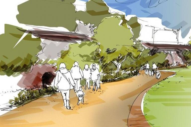 Port Salford Greenway artist impression