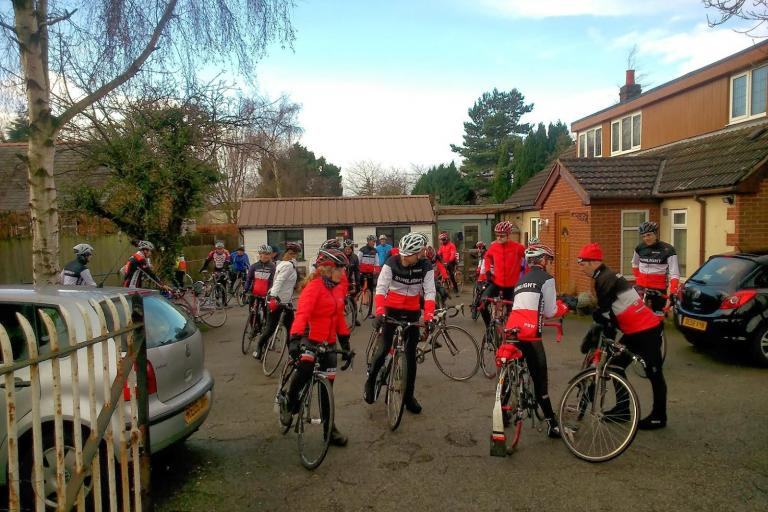 Port Sunlight Wheelers at the Eureka cycling cafe (©Port Sunlight Wheelers)