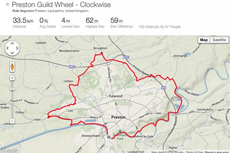 Preston Guild Wheel on Strava