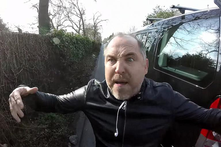 Priory Lane road rage driver Jason Wells delivers a threatening tirade
