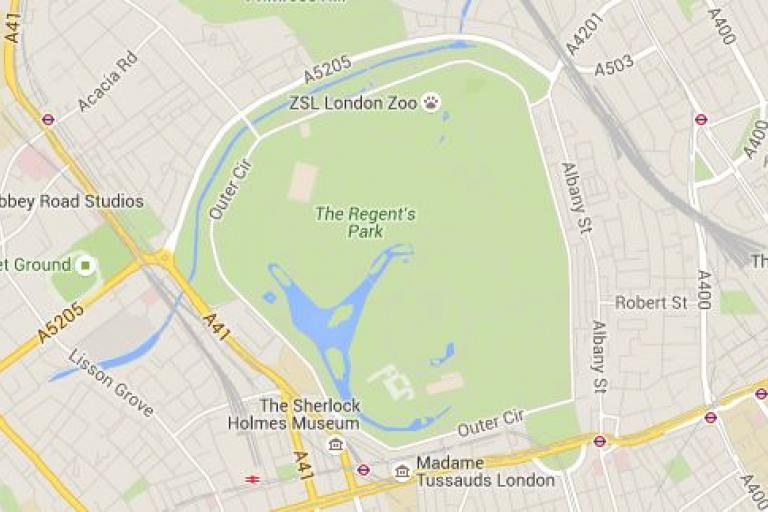 Regents Park (source Google Maps)