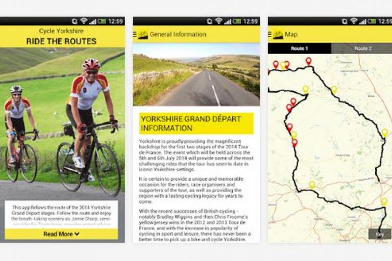 Ride the Routes smartphone app