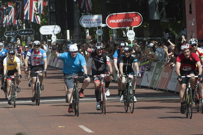 RideLondon 2013 finish