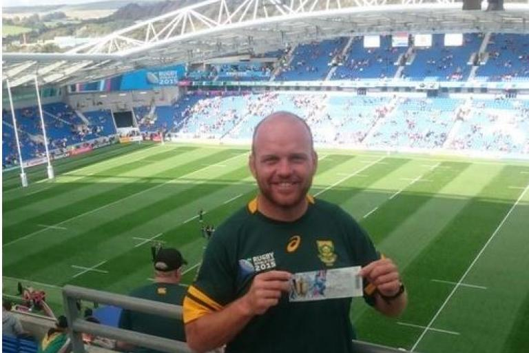 Ron Rutland at South Africa vs Japan in Brighton (source Twitter)