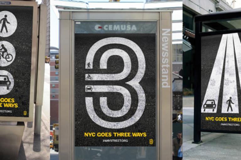 Three-way street posters