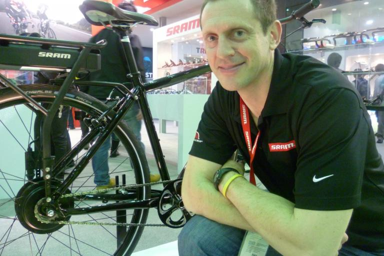 SRAM e-matic, with Sram's product manager Rob Cappucci