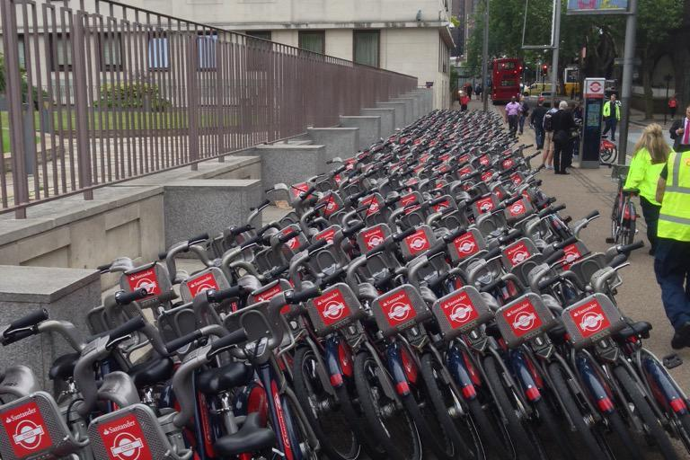 Santander Cycles hub Waterloo_ Pic courtesy of Martyn Thomas-large