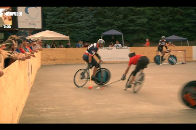NAH bike polo in action