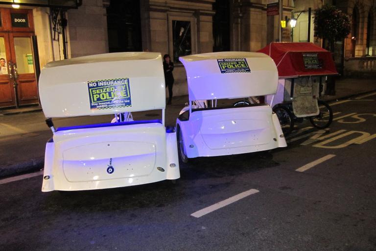 Seized pedicabs (picture Metropolitan Police)