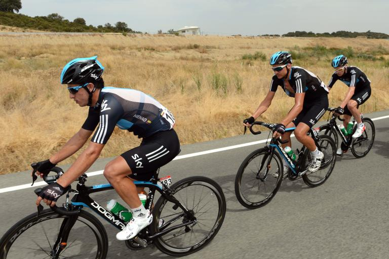 Sergio Henao on 2012 Vuelta Stage 2 (copyright Graham Watson:Unipublic)