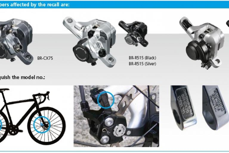 Shimano brake recall - affected brake calipers
