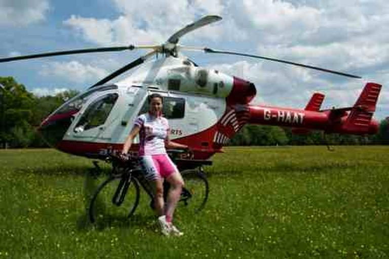 Shusanah Pillinger and Herts Air Ambulance