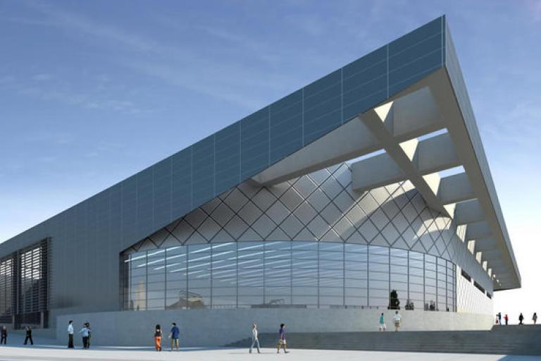 Sir Chris Hoy Velodrome CGI impression