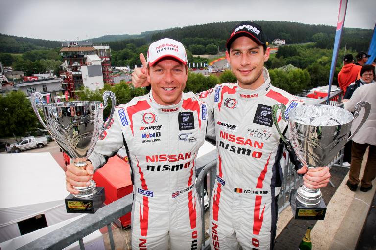 Sir Chris Hoy celebrates Spa podium with Wolfgang Reip