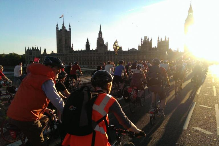 Space4Cycling protest ride, 2 September (© Londonneur)
